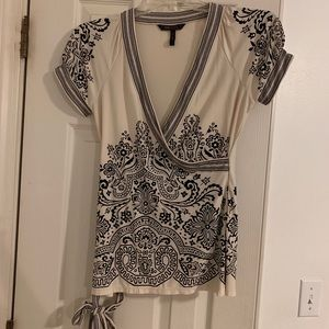 BCBG Wrap Blouse with tie front